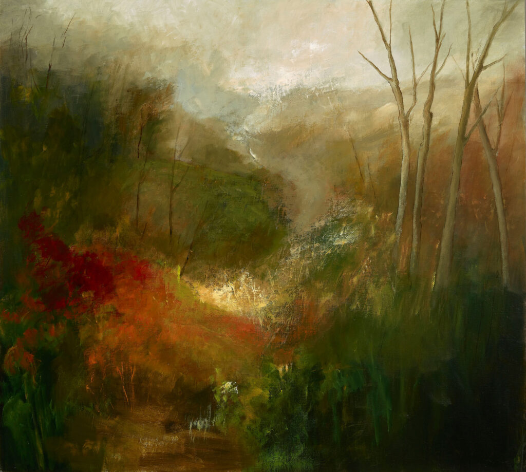 Glen Of The Downs, acrylic on linen 100x111cm